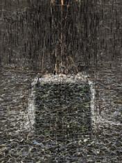 """prof. zw. Adam Romaniuk, """"Powidoki — wiatr"""" druk cyfrowy 2004, 120 x 150 cm"""