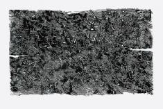 """prof. zw.  Krzysztof  Wawrzyniak, """"Magiczne pole świadomości linoryt 1993"""", 72 x 100 cm"""