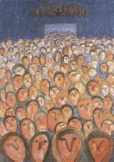"""as. dr Małgorzata Dmitruk, """"Nadzieja"""" litografia  2000, 64 x 48 cm"""