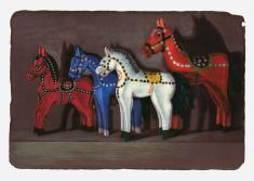 """prof. nzw. Witold Warzywoda, """"Duży, większy, biały"""" litografia barwna  2006, 30,5 x 43 cm"""