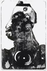 """prof. zw. Władysław Winiecki, """"Portret Kanibala"""" litografia 1968, 72,9 x 46,1 cm"""